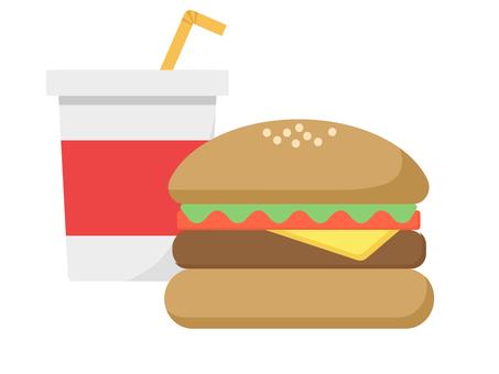 漢堡包和飲料圖