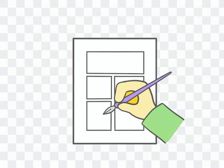 Hands to write cartoons