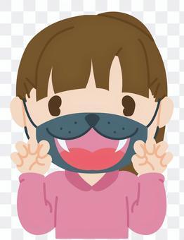 マスクをつけてコスプレ気分/半身