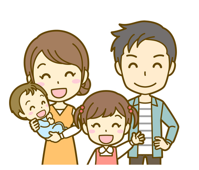 親子B(四人家族)_笑顔02BS