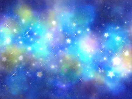 明亮的藍色空間七夕