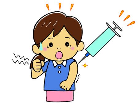 接種疫苗的年輕女子_嚇人