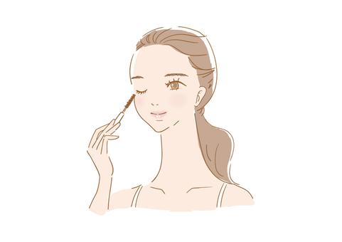 女人化妝(睫毛膏)
