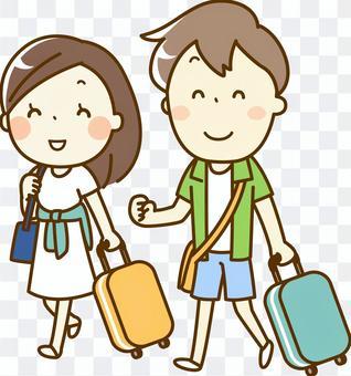 男人和女人去旅行