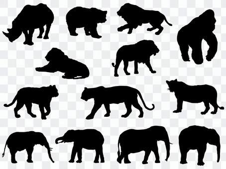 Animal silhouette_set 3