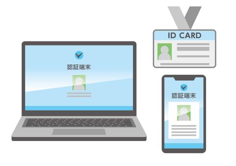筆記本智能手機身份證