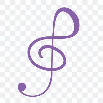 Handwritten treble clef
