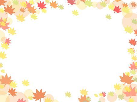 秋天背景秋葉