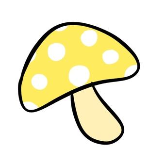Polka dot mushroom yellow