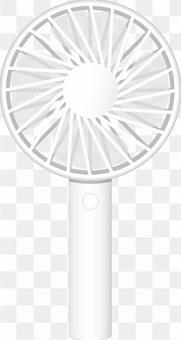ハンディファン(羽根透過)_ホワイト