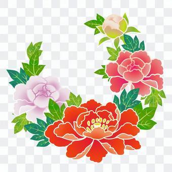 Hanamaru pattern (peony)