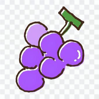 かわいい果物のイラスト6ブドウ