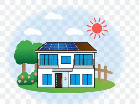 帶太陽能發電的房子獨立式房屋獨立式房屋