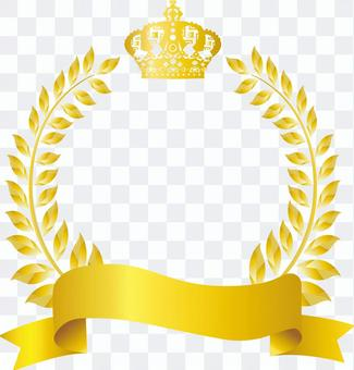 Free illustration Free material Gold crown Gold frame