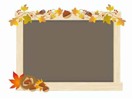 Autumn board chestnuts