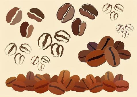 免費的插圖免費材料咖啡豆圖標