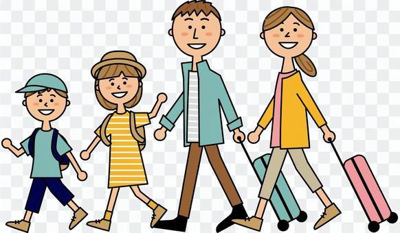4個家庭旅行