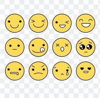 表情アイコンセット黄色