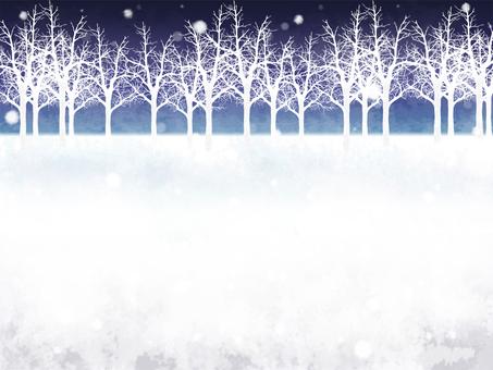 冬林雪景框(夜)