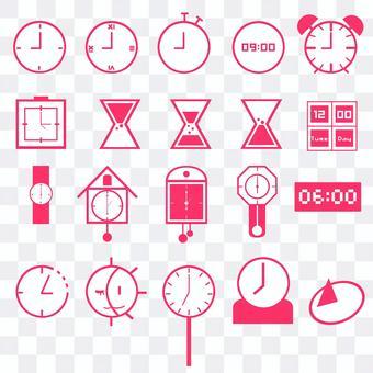 時間和時鐘圖標集