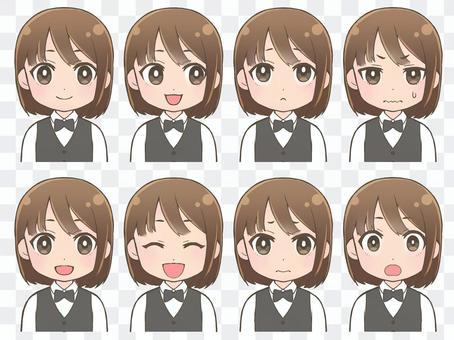 女性表情4.5