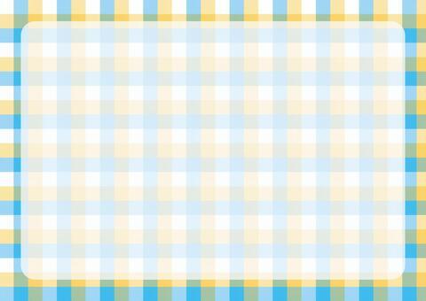 Gingham check frame yellow × light blue