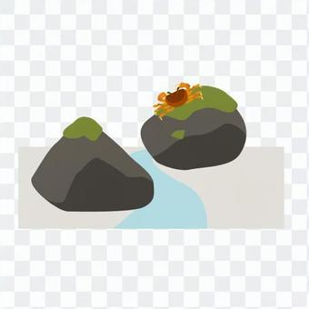 岩石和螃蟹