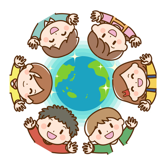 孩子們聚集在地球周圍 2