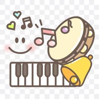 鍵盤音樂筆記演奏手鼓