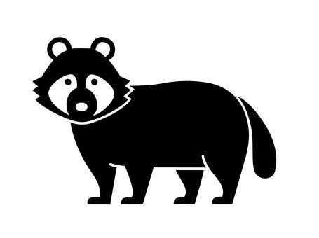 剪影浣熊狗