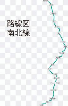 南北線路線図-リアル