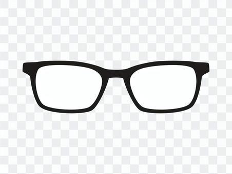 Glasses black and white icon