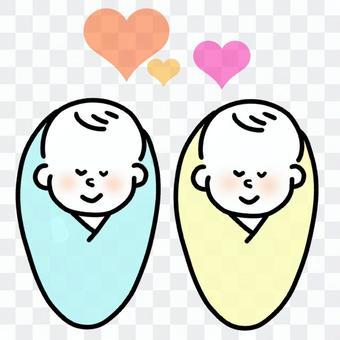 雙胞胎寶貝