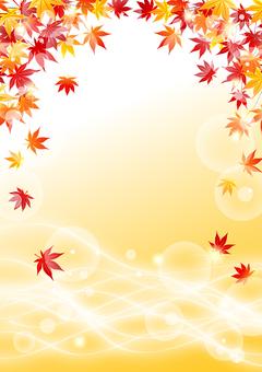 秋葉和流水的閃光背景垂直