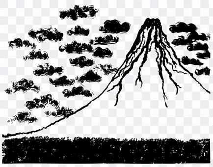 山富士刷子例證