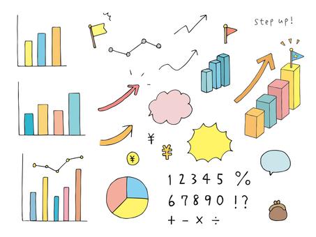 圖表、箭頭、氣泡等插圖素材