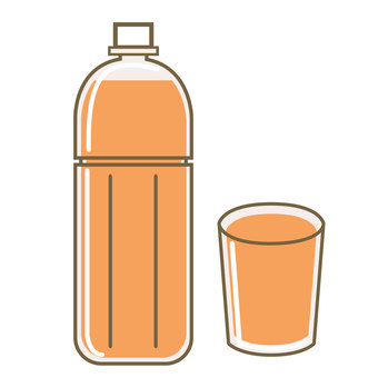 Orange juice and glass cup