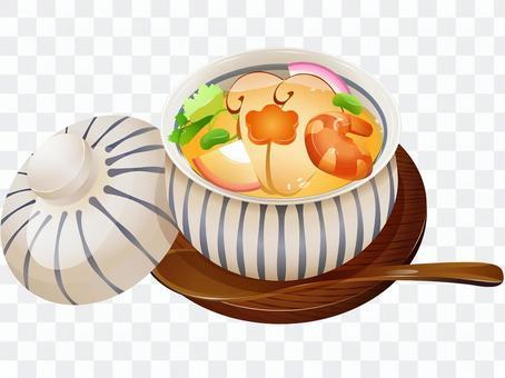 秋天的味道·松茸奶油蛋羹