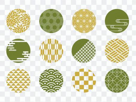 圓形材料套日式