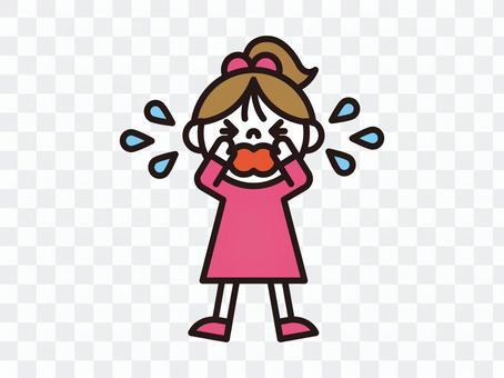 哭泣的女孩