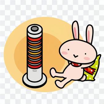 Usagi在房間裡作為加熱器