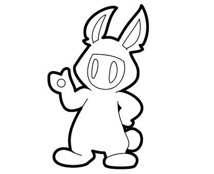 無色兔裝鬼