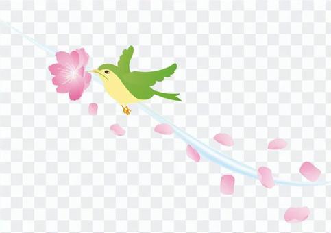 Peach blossoms and birds 2