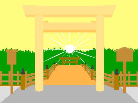 神宮鳥居神社大社碼頭圖2