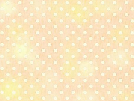 手書き水玉柄背景007 黄色