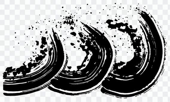 波刷插畫書法