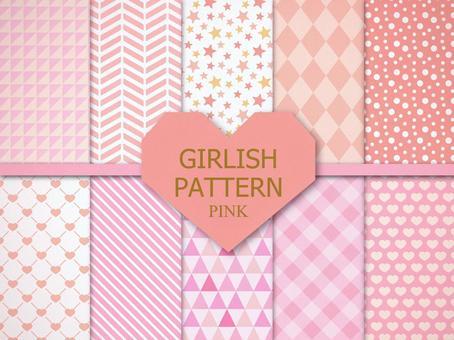 Girly pattern [pastel pink]