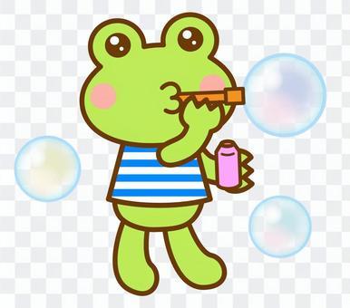 シャボン玉 遊び カエル 蛙