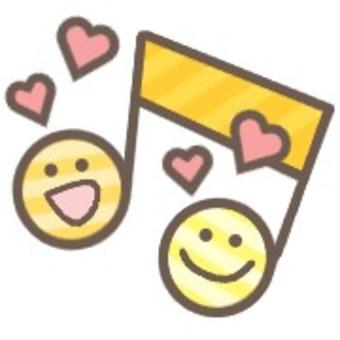 Musical note face music cute heart