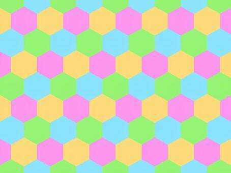 六角形_カラフル_1